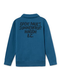 Bobo Choses - Open Zipped Sweatshirt, Seaport (119038)