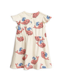 Mini Rodini - Whale aop wing dress, Pink