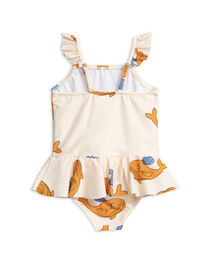 Mini Rodini - Cat mermaid Wing swimsuit, Offwhite