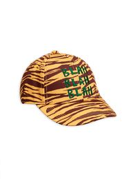 Mini Rodini - Tiger stripe cap, brown