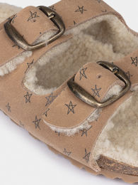 Bobo Choses - Stars Sheepskin Sandals (119235)