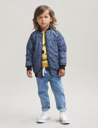 Huxbaby - FRECKLE REVERSIBLE BOMBER, Black / Leopard