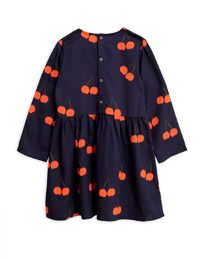 Mini Rodini - Cherry woven ls dress, Blue