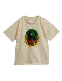 Mini Rodini - Panther badge ss tee, Offwhite