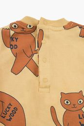 Tinycottons - CATS LS BODY, sand/brown