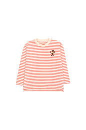 Tinycottons - STRIPES LS TEE, light cream/red
