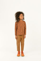 Tinycottons - ANIMAL PRINT LS TEE, brown / dark brown