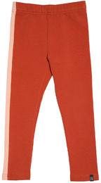 Kaiko -Stripe Leggings, Rust/Peach