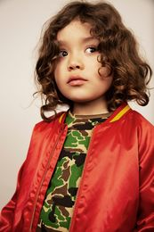 Mini Rodini - Panther baseball jacket, red