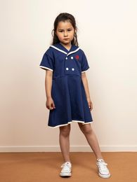 Mini Rodini - Sailor sweatdress, Navy