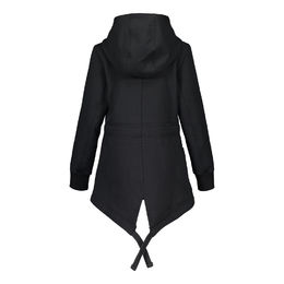 METSOLA - Outsider long parka, Black