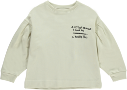 Beau LOves - Oversized tuck sweatshirt A list, natural