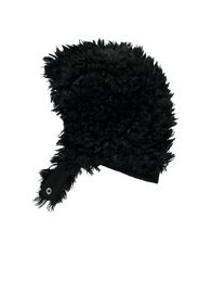 Beau LOves - Baby furry hat, black