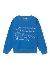 Bobo Choses - W.I.M.A.M.P blue sweatshirt