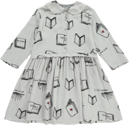 Beau LOves - Oversized collar dress Books, pale grey