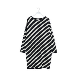 Papu - KNIT DRESS WOMEN, Black, White sand
