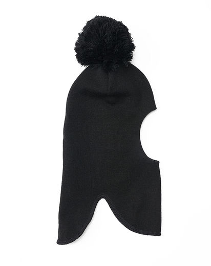 Mainio - BALACLAVA WITH POMPOM, Black