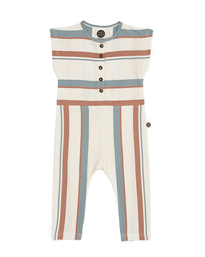 Mainio - BREEZE ONE-PIECE, whisper white / tawny orange / silver blue