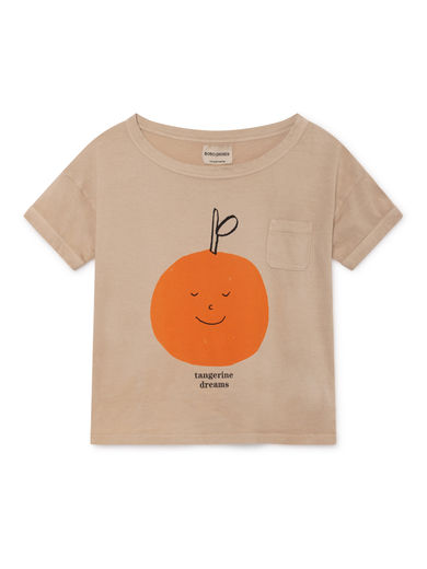 Bobo Choses - Tangerine Dreams Short Sleeve T-Shirt, Feather (119003)