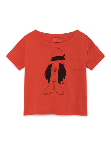 Bobo Choses - Paul s Short Sleeve T-Shirt, Red (119010)