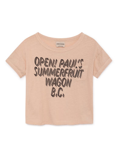 Bobo Choses - Open Linen T-Shirt, Rose Dust (119014)