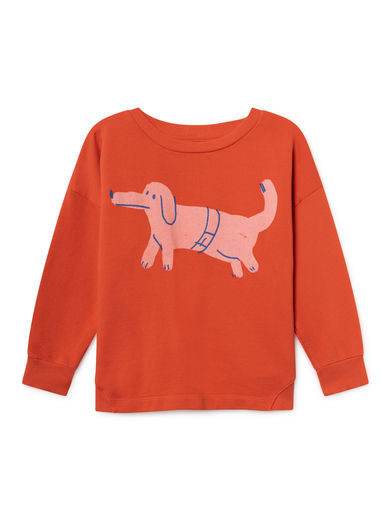 Bobo Choses - Paul s Dog Round Neck Sweatshirt, Red (119035)