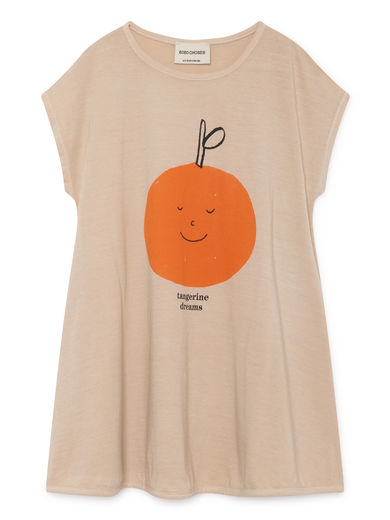 Bobo Choses - Tangerine Dreams Evase Dress, Feather (119085)