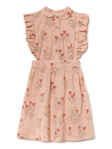 Bobo Choses - Poppy Prairie Ruffles Dress, Rose Dust (119095)