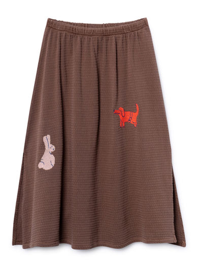 Bobo Choses - Animals Maxi Skirt, Clove (119102)