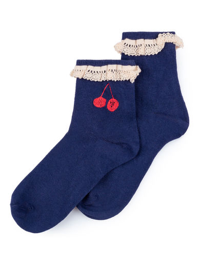 Bobo Choses - Cherry Short Socks, Seaport (119129)