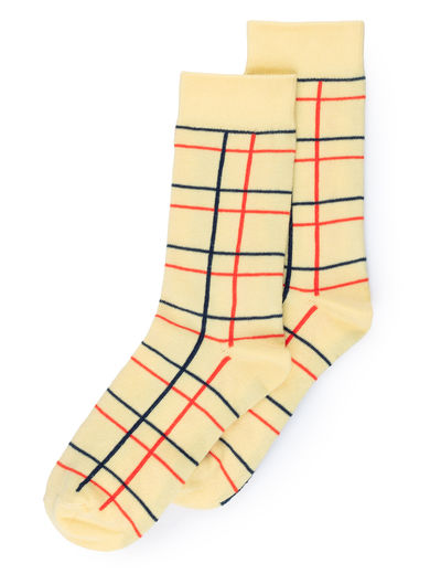 Bobo Choses - Lines Long Socks, Blanc de (119130)
