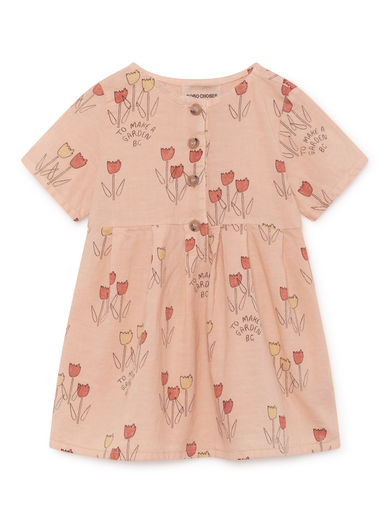 Bobo Choses - Poppy Prairie Princess Dress, Rose Dust (119214)