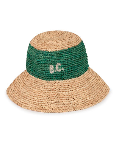 Bobo Choses - B.C. Wicker Hat, Blanc de (119242)