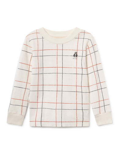 Bobo Choses - Lines Long Sleeve T-Shirt, Blanc de (119271)
