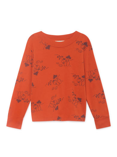 Bobo Choses - Tangerine Long Sleeve T-Shirt, Red (119272)