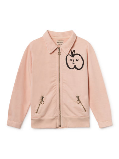 Bobo Choses - Apple Zipped Sweatshirt, Rose Dust (119073)