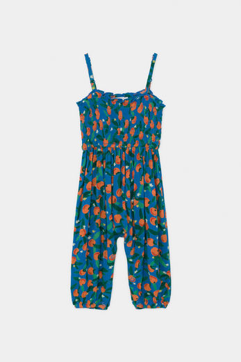 Bobo Choses - All Over Oranges Smocked Overall 12000042