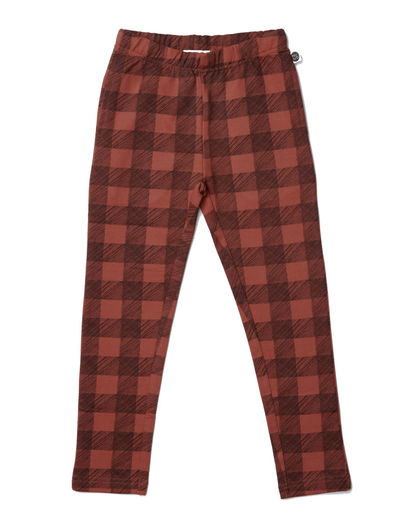 Mainio - Flannel Sweatpants, Mango