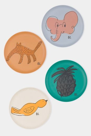 Bobo Choses - A Dance Romance Bamboo Plates Pack of 4, 12070003