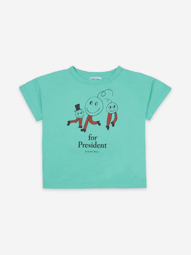 Bobo Choses - Peas For Peace Short Sleeve T-Shirt, 121AC007