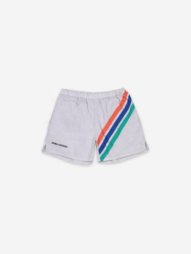 Bobo Choses - Crosswise Stripes Woven Shorts, 121AC072