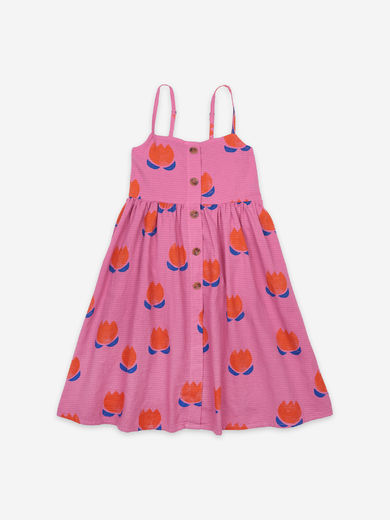Bobo Choses - Chocolate Flowers All Over Woven Dress, 121AC108