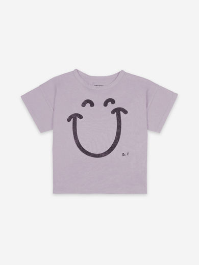 Bobo Choses - Big Smile Lilas Short Sleeve T-shirt, 121AC156