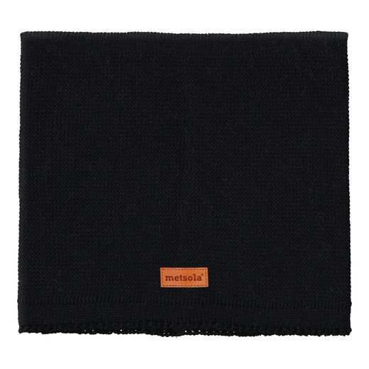 METSOLA - Knitted Tube Scarf, Black