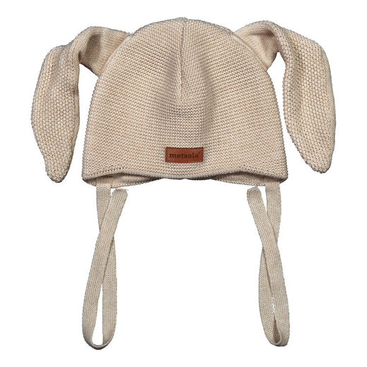 METSOLA - Knitted Bunny beanie, Sand of Africa