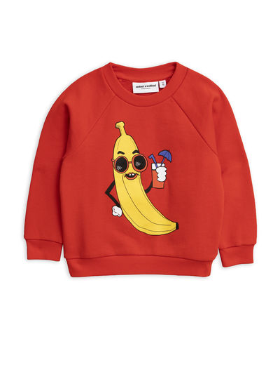 Mini Rodini - Banana sp sweatshirt, Red
