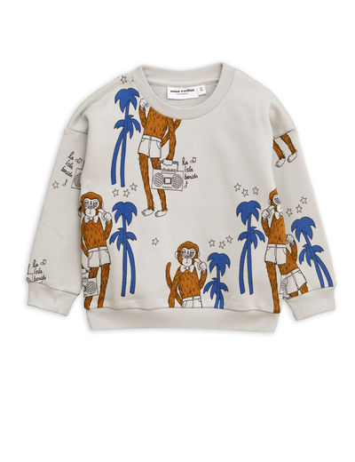 Mini Rodini - Cool monkey aop sweatshirt, Grey