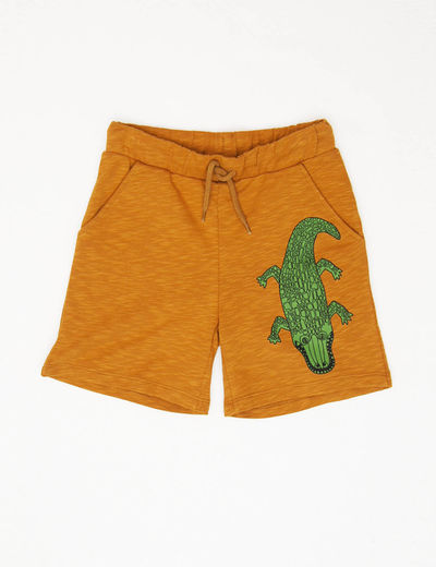 Mini Rodini - Crocco sp sweatshorts, Brown