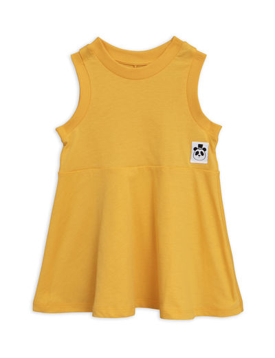 Mini Rodini - Solid cotton tank dress, Yellow