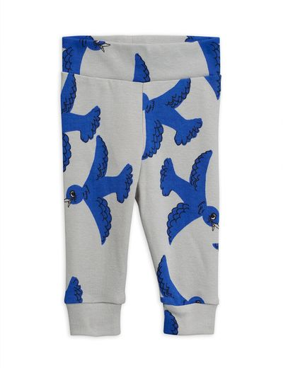 Mini Rodini - Flying birds nb leggings, Light grey